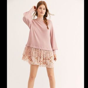 Free People Opposite Attraction Mini Dress Muave M